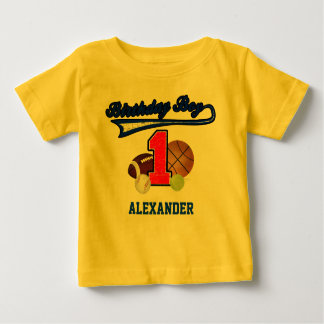 Vintage Birthday Boy Sports First Birthday Shirt