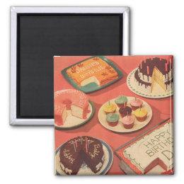 Vintage Birthday Cakes Magnet
