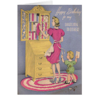 Vintage Birthday Card For Your Mom