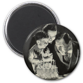Vintage Birthday Party for Dad with Cake Magnet