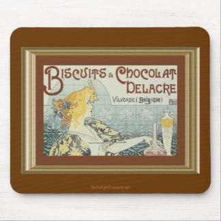Vintage Biscuits Chocolat Delacre Ad Mousepad
