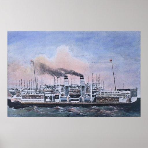 Vintage bisecado titánico del ejemplo del RMS Impresiones