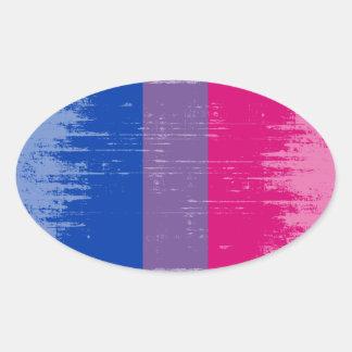 Vintage Bisexual Pride.png Oval Sticker