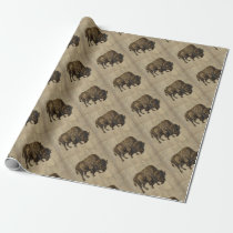 Vintage Bison Wrapping Paper