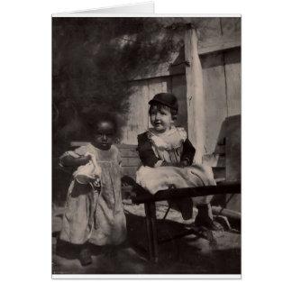 Vintage Black Americana - Black & White Cute Kids Card