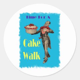 Vintage Black Americana CAKE WALK Classic Round Sticker