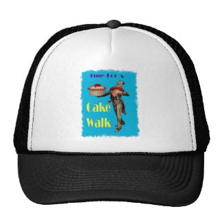 Vintage Black Americana CAKE WALK Hat