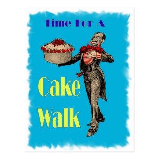 Vintage Black Americana CAKE WALK Postcard