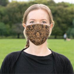 Vintage Black and Brown Pattern Face Mask