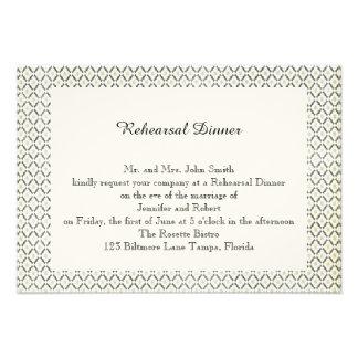 Vintage Black and Cream Diamond Wedding Rehearsal Custom Announcements