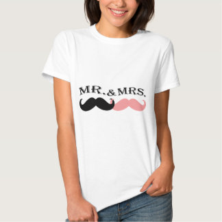 Vintage Black and Pink Mustache Tees