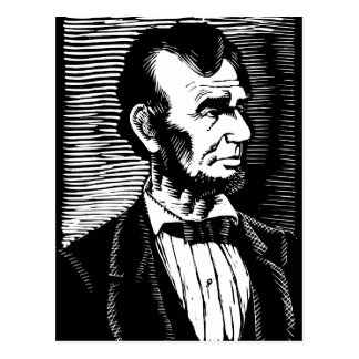 Vintage Black and White Abraham Lincoln Portrait Postcard