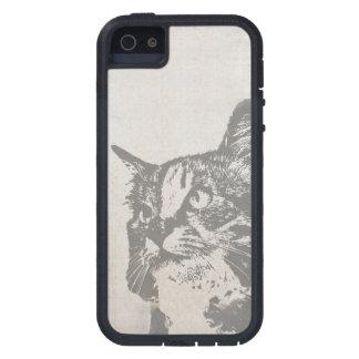 Vintage Black and White Cat Illustration iPhone SE/5/5s Case