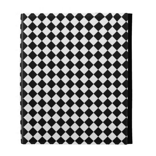 Vintage Black and White Checkered iPad Case