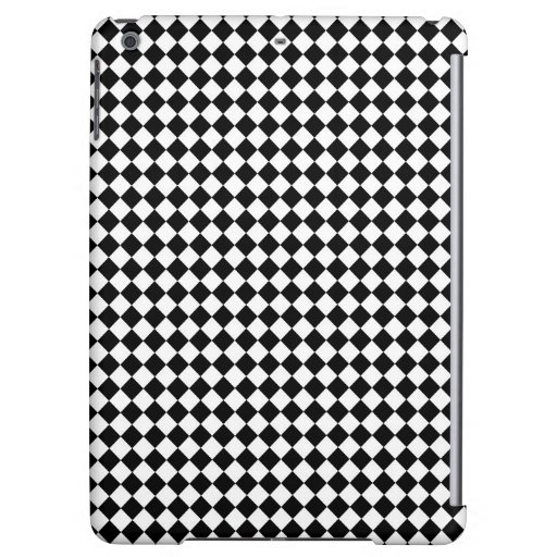Vintage Black and White Checkered iPad Air Case