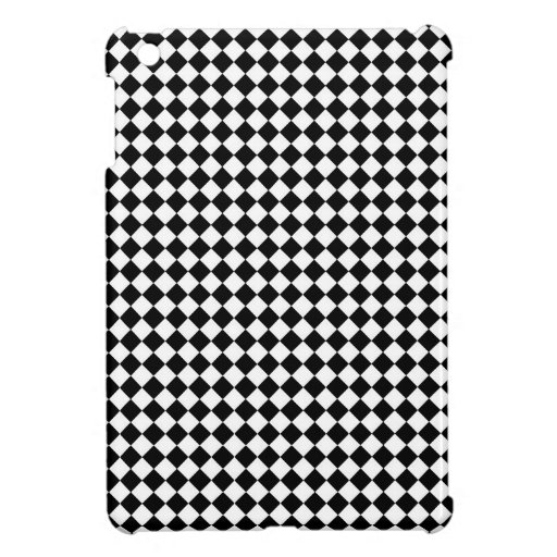 Vintage Black and White Checkered iPad Mini Cover