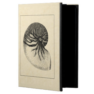 Vintage Black and White Conch Shell iPad Air Cover