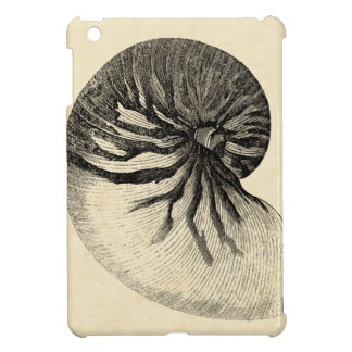 Vintage Black and White Conch Shell iPad Mini Covers