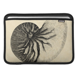 Vintage Black and White Conch Shell MacBook Sleeve