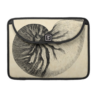 Vintage Black and White Conch Shell Sleeve For MacBooks
