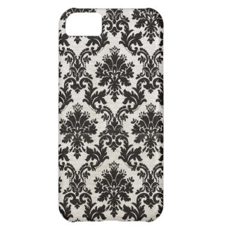 Vintage Black and White Damask Wallpaper iPhone 5C Case