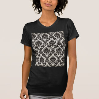 Vintage Black and White Damask Wallpaper T-Shirt