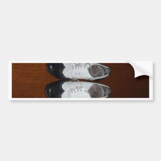 Vintage Black And White Dance Shoes Bumper Sticker