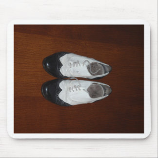 Vintage Black And White Dance Shoes Mouse Pad