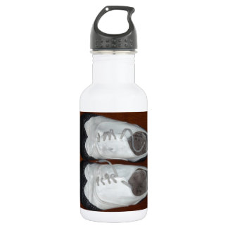 Vintage Black And White Dance Shoes Water Bottle