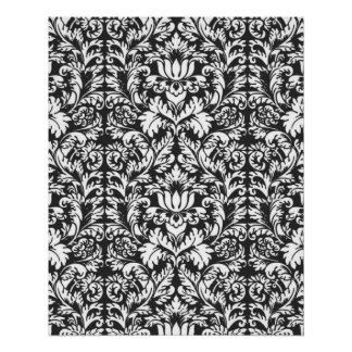 Vintage Black and White Pattern Poster