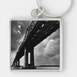 VINTAGE BLACK AND WHITE PHOTO  KEY CHAIN