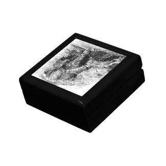 Vintage Black and White Pirates Sketch, Tailpiece Keepsake Box