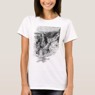 Vintage Black and White Pirates Sketch, Tailpiece T-Shirt