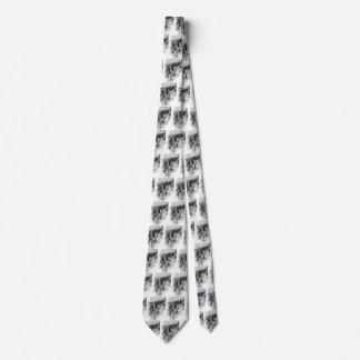 Vintage Black and White Pirates Sketch, Tailpiece Tie