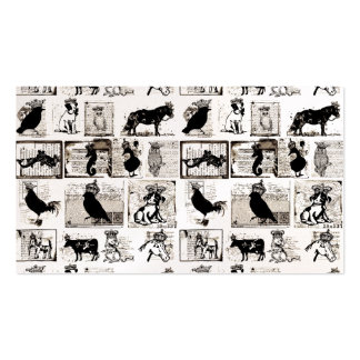 Vintage Black And White Royal Animals Business Card
