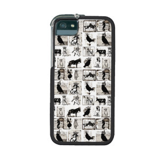 Vintage Black And White Royal Animals iPhone 5 Cases
