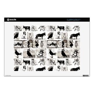 "Vintage Black And White Royal Animals Skin For 13"" Laptop"