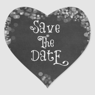 Vintage Black and White Save the Date Sticker