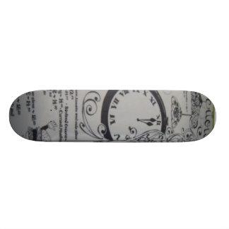 VIntage Black and White Skateboard