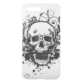 Vintage Black and White Sketch Skull Swirl Flowers iPhone 8 Plus/7 Plus Case