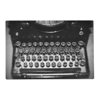 Vintage Black and White Typewriter Placemat