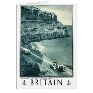 Vintage Black and White Visit Britain Poster Card
