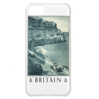 Vintage Black and White Visit Britain Poster Case For iPhone 5C