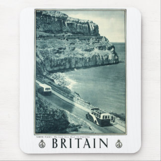Vintage Black and White Visit Britain Poster Mouse Pad