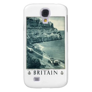Vintage Black and White Visit Britain Poster Samsung S4 Case