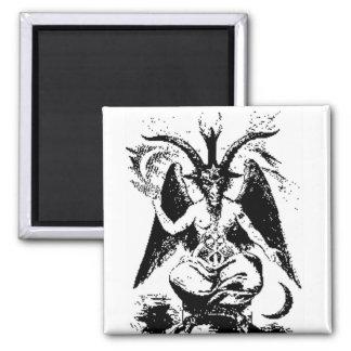 Vintage Black Baphomet Magnet
