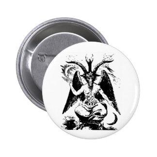 Vintage Black Baphomet Pinback Button