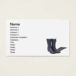 Vintage Black Boots Business Card