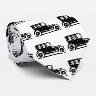 Vintage Black Car Illustration Tie