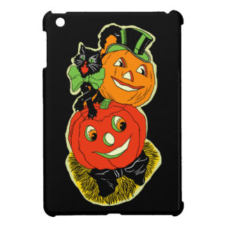 Vintage Black Cat and Jack o' Lanterns iPad Mini Case